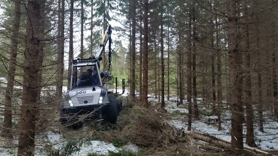 Jubilee delivery to forests outside Kristinehamn!